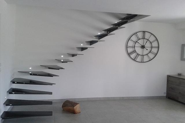 escalier nantes conception et pose avec ap metallerie. Black Bedroom Furniture Sets. Home Design Ideas